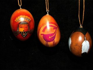 Ornaments Hand Crafted Egg Gourd Native Cindy Adams Design