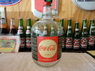COCA COLA SODA FOUNTAIN SYRUP TORONTO 1 GALLON PAPER LABEL JUG WITH