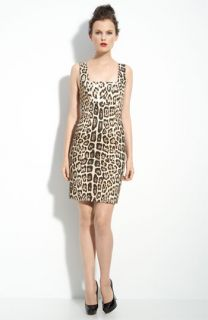 Alice + Olivia Nicola Leopard Print Dress
