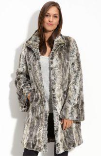 Kristen Blake Faux Fur Coat (Plus)