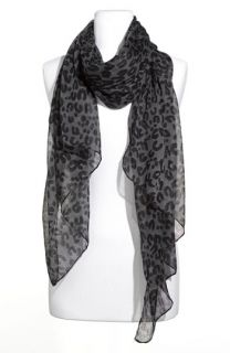 David & Young Leopard Print Scarf