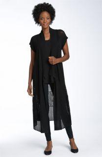 Eileen Fisher Silk Blend Lace Cardigan, Shell & Leggings