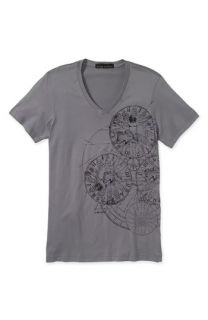 Affliction Black Premium Distraction Classic Fit V Neck T Shirt (Men)