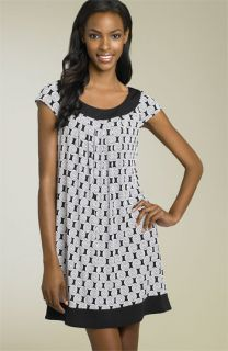 Maggy London Border Print Matte Jersey Dress