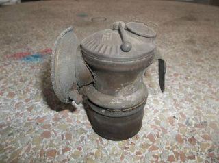 Vintage Auto Lite Miners Brass Carbide Lamp Lantern