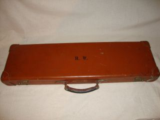 COGSWELL & HARRISON LTD LONDON GUNMAKERS TAKEDOWN SHOTGUN LEATHER CASE