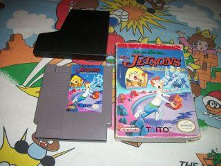 Jetsons Cogswells Caper NES Nintendo Game w Box Classic RARE Jetson