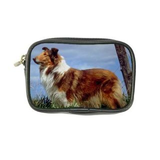 Collie Dog Puppy Puppies Leather Coin Purse Wallet Bags
