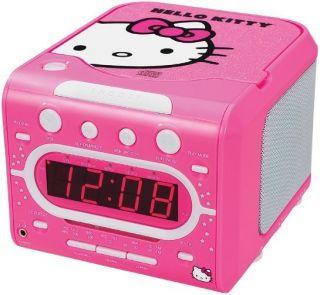 Stereo CD Player Dual Alarm Clock Radio w Headphone Jack