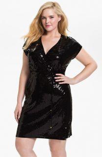 MICHAEL Michael Kors Sequin Wrap Dress (Plus)