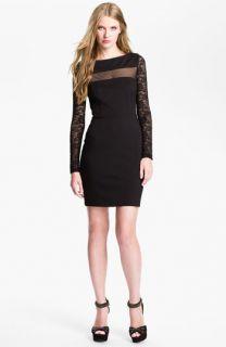 BB Dakota Parley Illusion Mesh Jersey Knit Sheath Dress