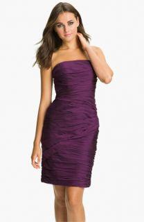 ML Monique Lhuillier Bridesmaids Strapless Ruched Chiffon Dress ( Exclusive)