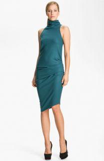 Halston Heritage Boiled Wool Jersey Dress