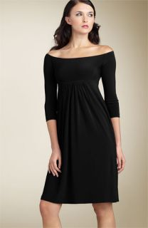Norma Kamali Off Shoulder Empire Waist Dress