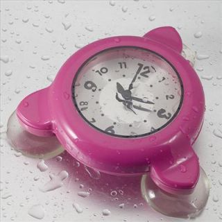 bathroom shower kitchen clock water resistant pink