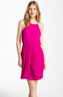 Rebecca Taylor Feeling Good Drape Detail Silk Dress