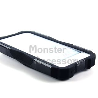 Black Cobra Double Layer Hybrid Gel Case Cover for Apple iPhone 5 5th