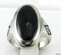 point college 10k white gold onyx ring