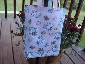 Hello Kitty Fabric Party Favors Bags Totes Bags Handmade