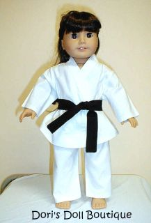 Doll Clothes Fits American Girl 4 PC Karate Set