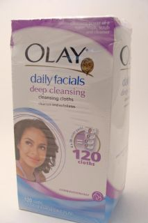 Daily facials Deep cleansing cleaning cloths combination oily NEW NR