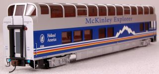 Bachmann HO Scale Train Full Dome Coach Car McKinley Explorer Knik