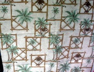 """Pair of Palms in Squares Design Curtains 24"""" Long"""