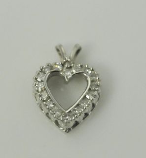 14KWG Estate Diamond Heart Pendant