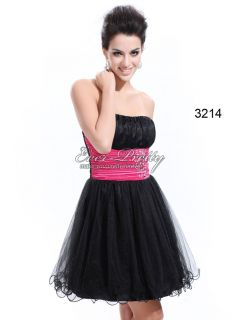 Strapless Black Sequins Rhinestones Cocktail Dress 03214 AU Size 14