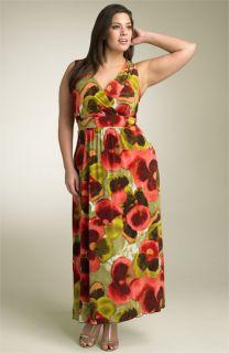 Lily Matte Jersey Maxi Dress (Plus)