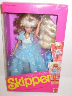 NIB Barbie Doll 1990 Dream Date Skipper