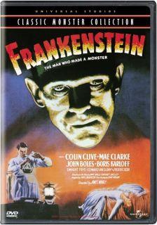 Frankenstein   Colin Clive / Boris Karloff   Classic Horror Suspense