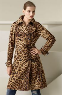 Dolce&Gabbana Leopard Print Belted Trench