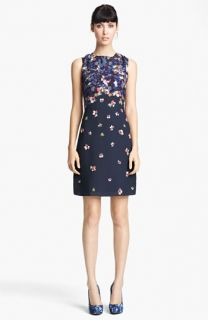 Erdem Print Sleeveless Shift Dress