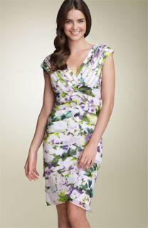 Adrianna Papell Shutter Pleat Chiffon Dress