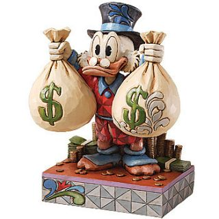 Disneys Uncle Scrooge McDuck Handpainted Collectible Figurine