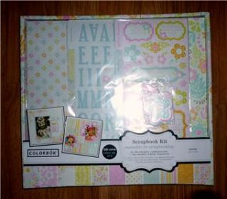 Colorbok Scrapbook Kit for Girls 24 PG s 12x12 Pages Stickers