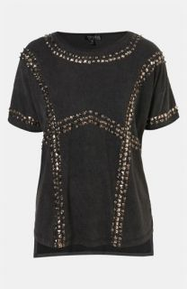 Topshop Embellished Harness Tee