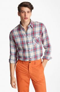 Billy Reid Walland Plaid Linen Shirt