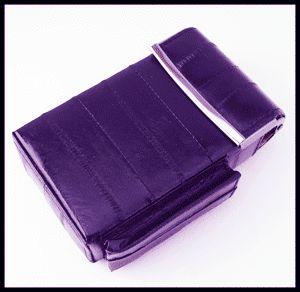 Purple Color Eel Skin Leather Box Pop Up Cigarette Case