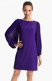 Eliza J Pleated Blouson Sleeve Shift Dress