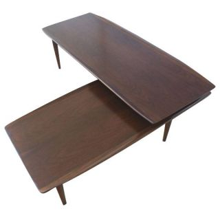 4ft Oval Stainless Steel Glass Industrial Coffee Table