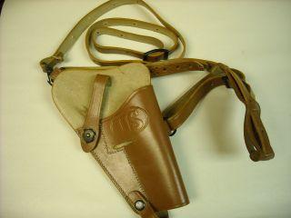 Colt 45 Pistol M7 Shoulder Holster Brown Color
