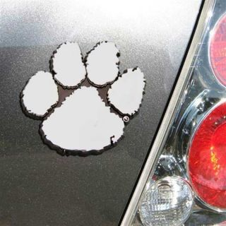 Clemson Tigers Chrome Auto Emblem Decal Football