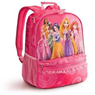 Girls Princess Backpack Rapunzel Ariel Snow White
