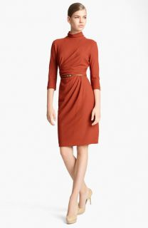 Max Mara Edmond Belted Crepe Dress