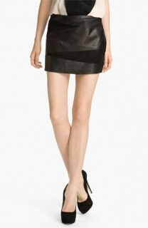 Haute Hippie Leather Miniskirt