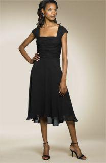 Donna Ricco Cap Sleeve Silk Dress