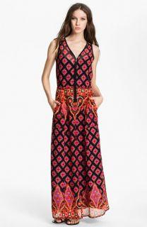 Nanette Lepore Electrifying Silk Maxi Dress