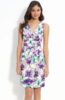 Donna Ricco Floral Stretch Cotton Dress